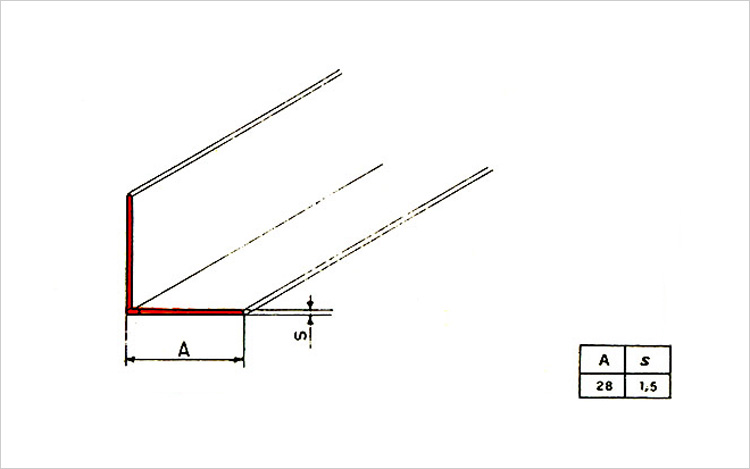Paraspigoli per interni per angoli colonne